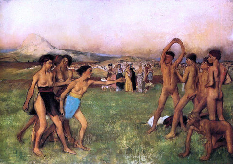 Edgar Degas The Young Spartans - Hand Painted Oil Painting