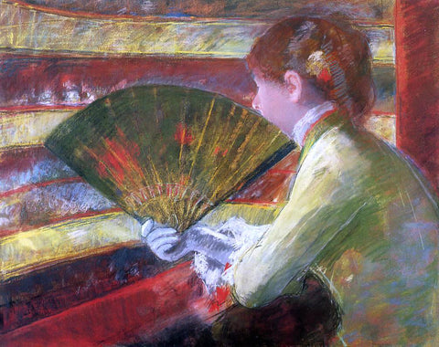 Mary Cassatt A Theater - Hand Painted Oil Painting