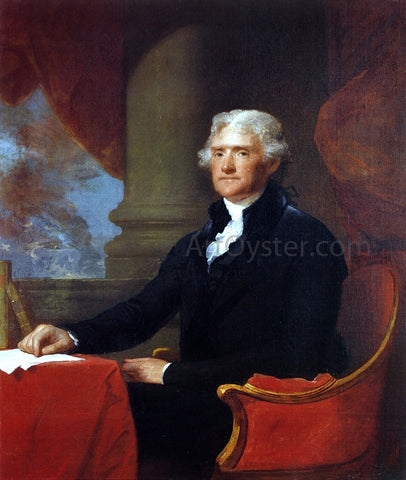 Gilbert Stuart Thomas Jefferson - Hand Painted Oil Painting