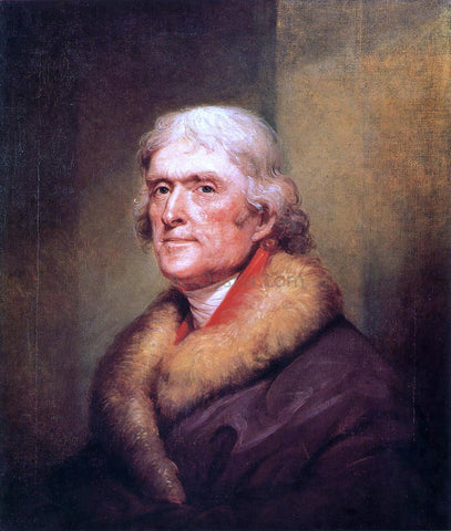 Rembrandt Peale Thomas Jefferson - Hand Painted Oil Painting