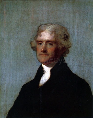 Gilbert Stuart Thomas Jefferson (The Edgehill Portrait) - Hand Painted Oil Painting