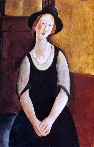 Amedeo Modigliani Thora Klinckowstrom - Hand Painted Oil Painting