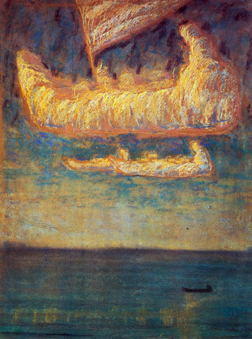 Mikalojus Ciurlionis Thoughts - Hand Painted Oil Painting