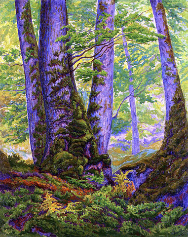 Paul Ranson Three Beeches - Hand Painted Oil Painting