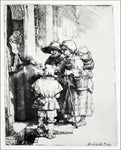 Rembrandt Van Rijn Three Beggars at the Door of a House - Hand Painted Oil Painting