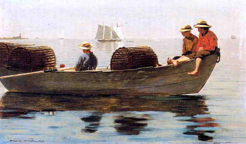 Winslow Homer Three Boys in a Dory - Hand Painted Oil Painting