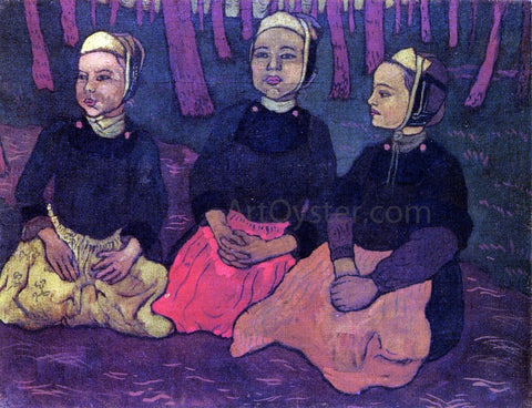 Georges Lacombe Three Breton Women in the Forest - Hand Painted Oil Painting