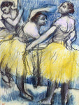 Edgar Degas Three Dancers in Yellow Skirts - Hand Painted Oil Painting