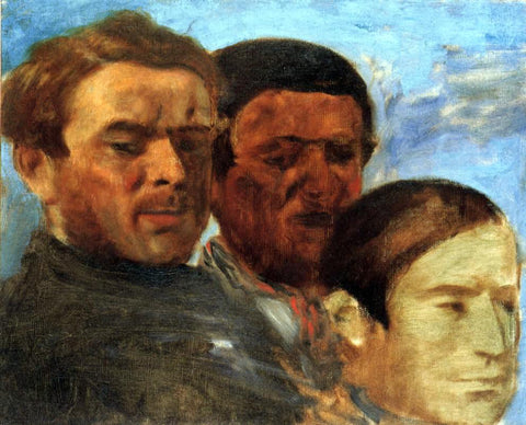 Edgar Degas Three Heads - Hand Painted Oil Painting