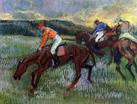 Edgar Degas Three Jockeys - Hand Painted Oil Painting