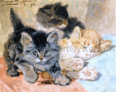 Henriette Ronner-Knip Three Kittens - Hand Painted Oil Painting