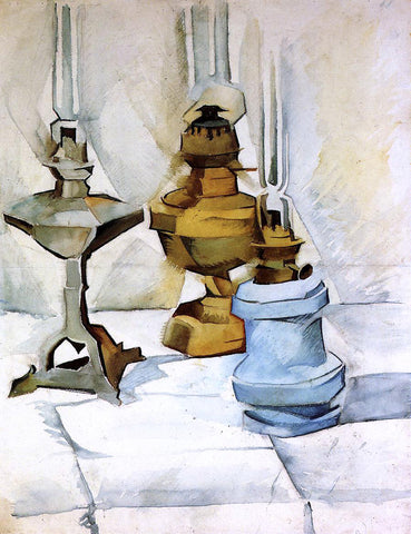 Juan Gris Three Lamps - Hand Painted Oil Painting