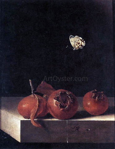 Adriaen Coorte Three Medlars with a Butterfly - Hand Painted Oil Painting