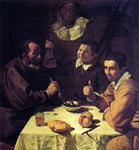 Diego Velazquez Three Men at a Table (also known as Luncheon) - Hand Painted Oil Painting