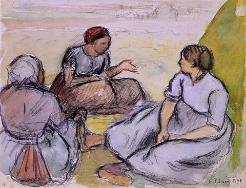 Camille Pissarro Three Peasant Women - Hand Painted Oil Painting