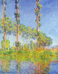 Claude Oscar Monet Three Poplar Trees, Autumn Effect - Hand Painted Oil Painting