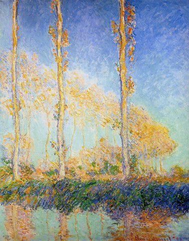 Claude Oscar Monet Three Poplar Trees in the Autumn - Hand Painted Oil Painting