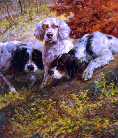Edmond H Osthaus Three Setters on the Scent - Hand Painted Oil Painting