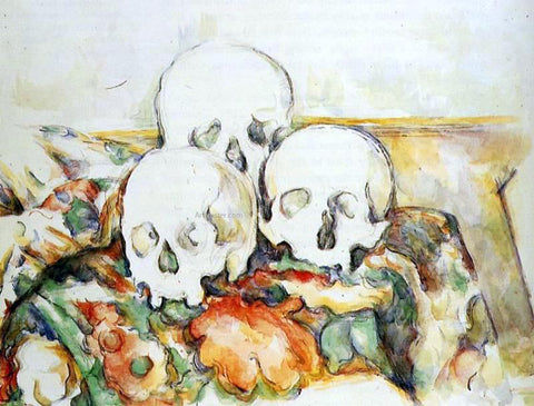 Paul Cezanne Three Skulls - Hand Painted Oil Painting