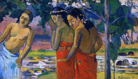 Paul Gauguin Three Tahitian Women - Hand Painted Oil Painting