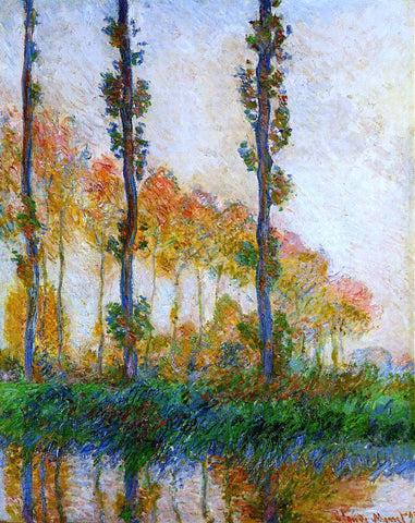 Claude Oscar Monet Three Trees in Autumn - Hand Painted Oil Painting