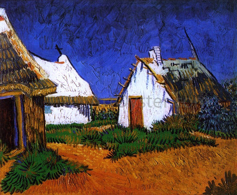 Vincent Van Gogh Three White Cottages in Saintes-Maries - Hand Painted Oil Painting