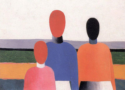 Kazimir Malevich Three Woman Figures - Hand Painted Oil Painting