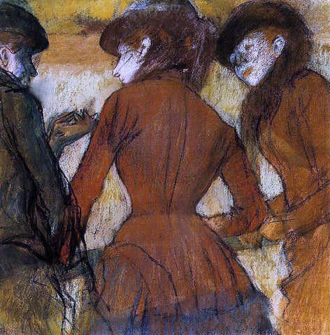 Edgar Degas Three Women at the Races - Hand Painted Oil Painting