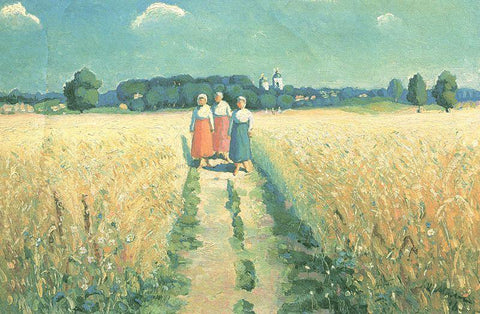 Kazimir Malevich Three Women on the Road - Hand Painted Oil Painting