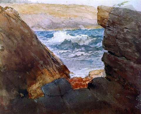 Winslow Homer Through the Rocks - Hand Painted Oil Painting