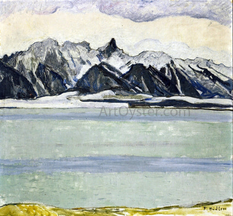 Ferdinand Hodler Thumersee with Stockhornkette in Winter - Hand Painted Oil Painting