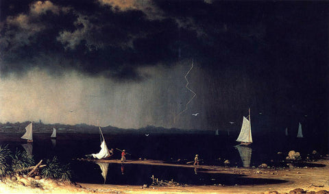 Martin Johnson Heade Thunder Storm on Narragansett Bay - Hand Painted Oil Painting