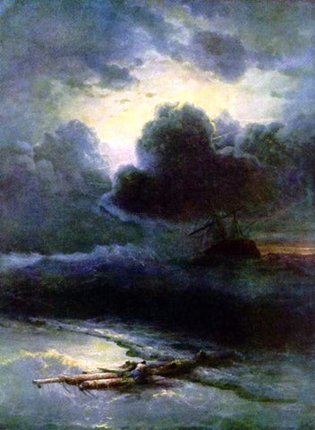 Ivan Constantinovich Aivazovsky Thunderstorm - Hand Painted Oil Painting