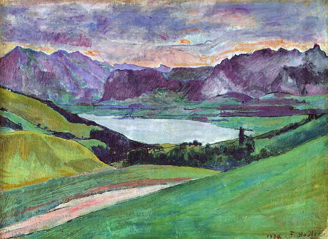 Ferdinand Hodler Thunersee - Hand Painted Oil Painting