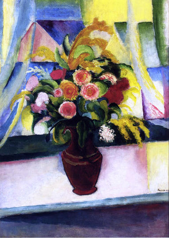 August Macke Title Unknown - Hand Painted Oil Painting