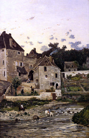 Henri Harpignies Title Unknown - Hand Painted Oil Painting