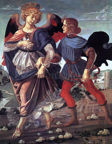 Andrea del Verrocchio Tobias and the Angel - Hand Painted Oil Painting
