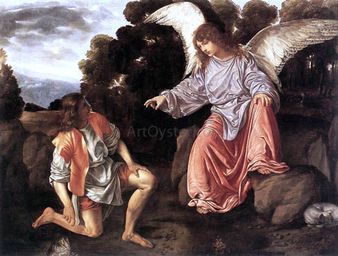 Giovanni Girolamo Savoldo Tobias and the Angel - Hand Painted Oil Painting