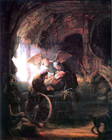 Rembrandt Van Rijn Tobias Cured With His Son - Hand Painted Oil Painting