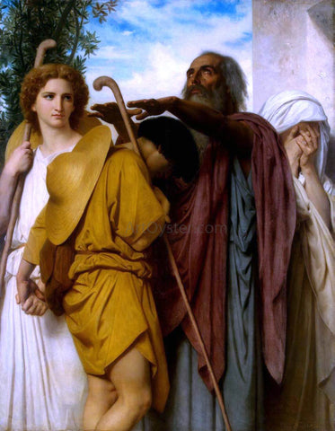 William Adolphe Bouguereau Tobias Saying Farewell to his Father - Hand Painted Oil Painting