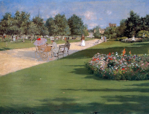 William Merritt Chase Tompkins Park, Brooklyn - Hand Painted Oil Painting