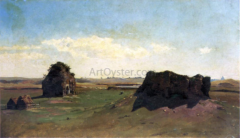 William Stanley Haseltine Torre degli Schiavi, Campagna Romana - Hand Painted Oil Painting