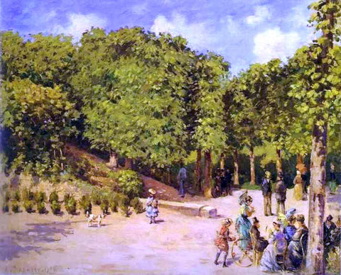Camille Pissarro Town Garden in Pontoise - Hand Painted Oil Painting