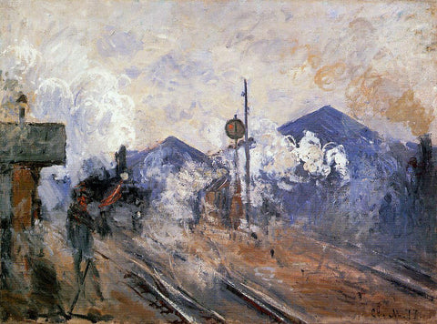 Claude Oscar Monet Track Coming out of Saint-Lazare Station - Hand Painted Oil Painting