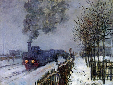 Claude Oscar Monet A Train in the Snow, the Locomotive - Hand Painted Oil Painting