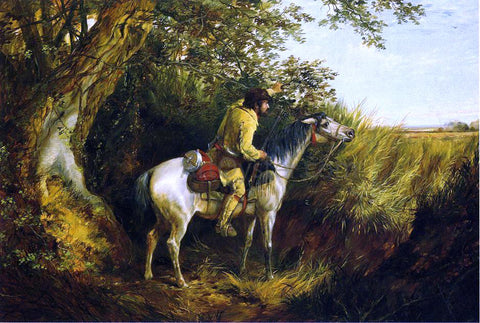 Arthur Fitzwilliam Tait Trapper Looking Out - Hand Painted Oil Painting