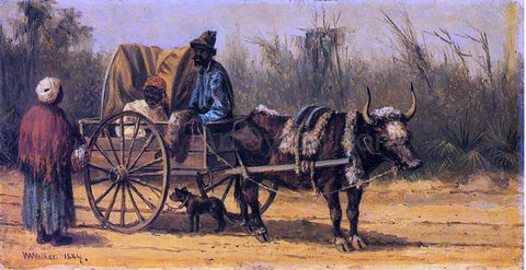 William Aiken Walker Traveling by Ox Cart - Hand Painted Oil Painting