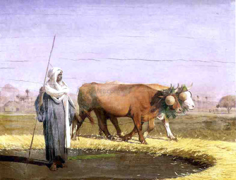 Jean-Leon Gerome Treading Wheat in Egypt - Hand Painted Oil Painting
