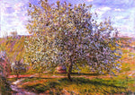 Claude Oscar Monet Tree in Flower near Vetheuil - Hand Painted Oil Painting