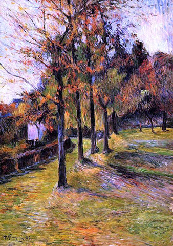 Paul Gauguin Tree Lined Road, Rouen - Hand Painted Oil Painting